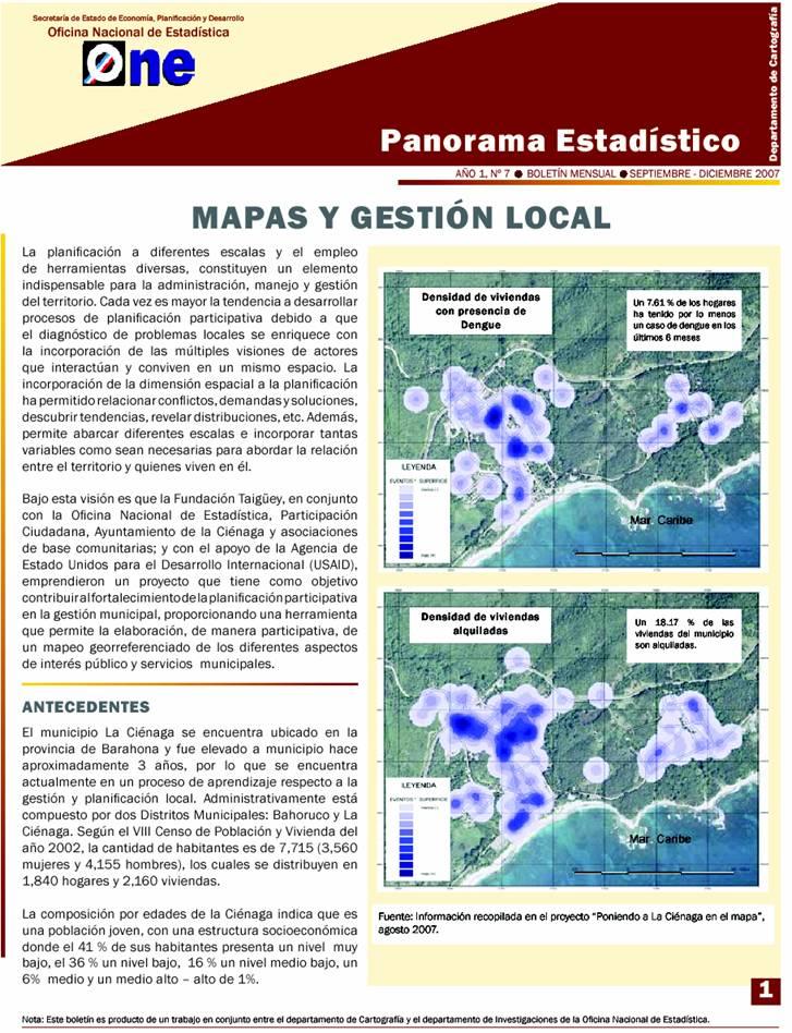 Boletin de la ONE - proyecto Cienega en el mapa p1